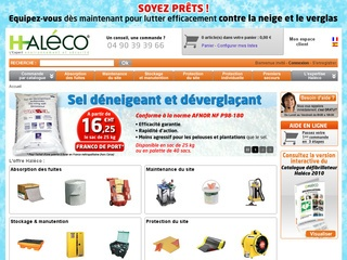 Détails : Haleco.fr : absorbants et rétention