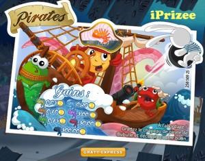 Jeu des pirates Prizee